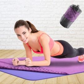 Non-slip Microfiber Yoga Towel Yoga Fitness Blanket Soft Gym Exercise Mat Purple
