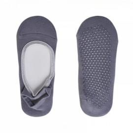 Non-Slip Silicone Dot Women Backless Cotton Yoga Socks Light Gray
