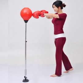 Adults Fitness Boxing Pear Sports Punching Bag Sucker Base Red