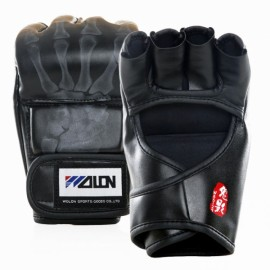 WOLON Thai Kick Boxing Gloves Half-finger Fighting Boxing Gloves Black