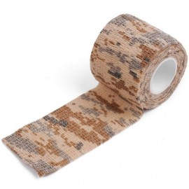 5cm x 4.5m Kombat Army Camo Wrap Sports Shooting Hunting Camouflage Stealth Self-adhesion Tape Desert Camouflage