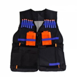 Tactical Vest Kids Toy Gun Clip Jacket Foam Bullet Ammunition Holder for Nerf Black