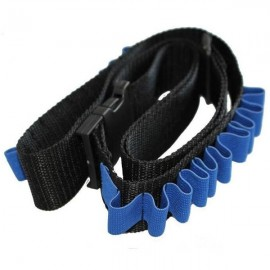 Bandolier Toy Gun Soft Bullets Belt Plastic Buckle Shoulder Strap Clip Charger Darts Ammo Storage for Nerf N-strike Blasters Cartridge Holder Black & Blue