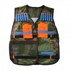 Tactical Vest Kids Toy Gun Clip Jacket Foam Bullet Ammunition Holder for Nerf Camouflage