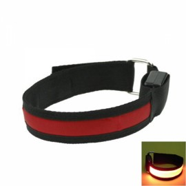 Cool LED Light Fluorescent Night Running Bike Riding Cycling Armband Black & Red