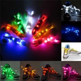 2pcs Nylon LED Shoelaces Flat Luminous Shoelace for Sneakers White