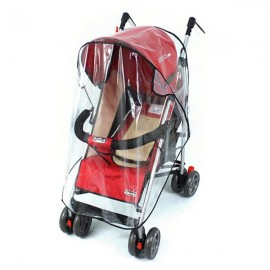 Baby Rain Wind Snow Sleet Shield Cover for Single Jogger Stroller Transparent & Black