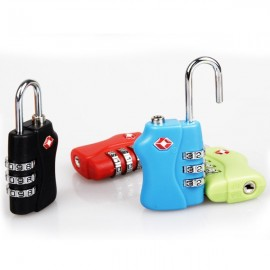 New TSA 3 Dial Combination Luggage Travel Bag Code Lock Random Color