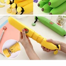 Personalized Cartoon Banana Umbrella Retractable Folding Umbrella Green