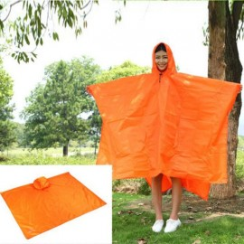 Aotu Multi-function Outdoor Raincoat Poncho for Fishing Hiking Camping Mountaineering Tourism Orange