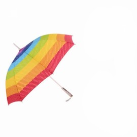 LED Rainbow Style Umbrella Long Handle Flashlight Sunshade Umbrella Colorful