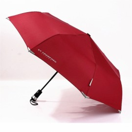 LED Light Automatic Dual Folding Sunshade Umbrella Red