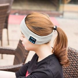 Smart Wearable Device Sports Stereo Music Headband Handsfree Bluetooth Wireless Headset Light Gray