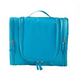 Multifunction Zipper Toiletry Travel Organizer Wash Storage Bags Makeup Cosmetic Bag Case Sky Blue
