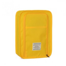 Multifunctional Travel Wash Cosmetic Makeup Bag Shoes Storage Bag Yellow
