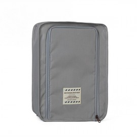 Multifunctional Travel Wash Cosmetic Makeup Bag Shoes Storage Bag Light Gray
