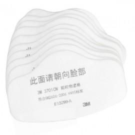 10pcs 3701CN Filter Cotton for 3M 3200 Gas Mask White