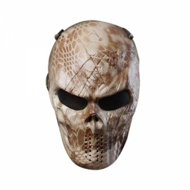 Airsoft Paintball Full Face Skull Skeleton CS Mask Tactical Military Halloween Skeleton Man #04
