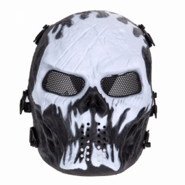 Airsoft Paintball Full Face Skull Skeleton CS Mask Tactical Military Halloween Will o' the Wisp #01