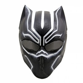 Black Panther Latex Mask Movie Fantastic Four Cosplay Men's for Halloween Purim Black