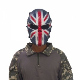 Airsoft Paintball Full Face Skull Skeleton CS Mask Tactical Military Halloween Captain America #02