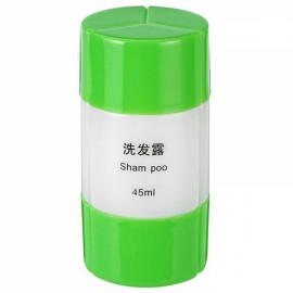 3 In 1 Portable Plastic Empty Shampoo Skin Bath Cream Bottle Travel Storage Bottle Container Green