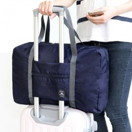Travel Waterproof Luggage Folding Handbag Shoulder Bag-Dark Blue