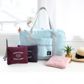 Travel Waterproof Luggage Folding Handbag Shoulder Bag-Light Blue