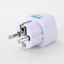 Universal UK US AU to EU AC Power Socket Plug Travel Charger Adapter Converter White