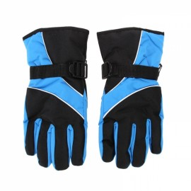 Winter Warm Windproof Waterproof Gloves for Outdoor Sports Mountain Skiing Snowboard Cycling Sky Blue