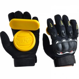 LOSENKA Long Board Slider Speed Brake Gloves Highway Skateboard Double Slide Block - Yellow