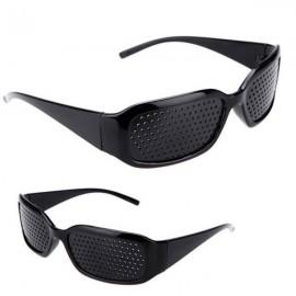 Vision Care Anti-fatigue Pinhole Eyeglasses Eye Exercise Eyesight Improve Glasses Black