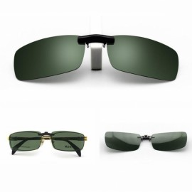 Polarized Clip On Sunglasses Driving Night Vision Lens Unisex Anti-UVA Anti-UVB Clip Dark Green M