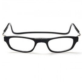 Halter Wearing Folding Magnetic Reading Presbyopic Glasses for Old People Black 200 Degrees