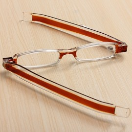 360-Degree Rotation Folding Presbyopic Reading Glasses Coffee 3.5
