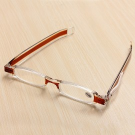 360-Degree Rotation Folding Presbyopic Reading Glasses Coffee 3.0