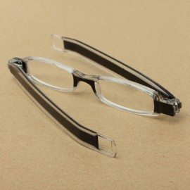 360-Degree Rotation Folding Presbyopic Reading Glasses Black 1.0