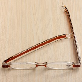 360-Degree Rotation Folding Presbyopic Reading Glasses Coffee 4.0