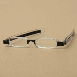 360-Degree Rotation Folding Presbyopic Reading Glasses Black 4.0