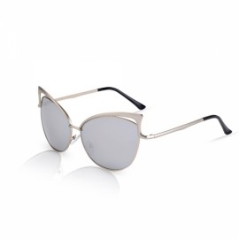 Senlan 5808 Fashionable Anti-UV Unisex Sunglasses Silver Frame & Mercury Lens