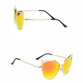 Senlan 5808 Fashionable Anti-UV Unisex Sunglasses Golden Frame & Red Lens