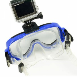 JUSTONE J136 3D Print Diving Glasses Mask for GoPro Hero/SJ5000 Blue & Black