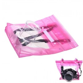 Universal Waterproof PVC Diving Bag Underwater Pouch Case Beach Shoulder Bag for Camera Pink
