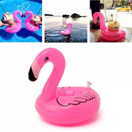 Inflatable Flamingo Float Drink Can Holder Party Pool Home Decor Kids Toy Red