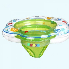 Seat Style Baby Pool Float Toy Infant Ring Toddler Inflatable Swimming Ring Green