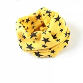 Stars Pattern Children's Cotton Neckerchief Kids Boy Girl Scarf Yellow