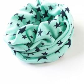 Stars Pattern Children's Cotton Neckerchief Kids Boy Girl Scarf Light Blue
