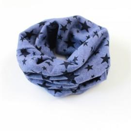 Stars Pattern Children's Cotton Neckerchief Kids Boy Girl Scarf Navy Blue