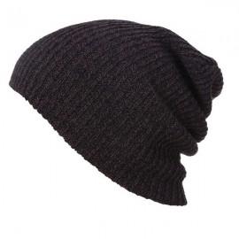 Unisex Baggy Beanie Oversize Winter Warm Crochet Knitted Cap Coffee