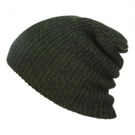 Unisex Baggy Beanie Oversize Winter Warm Crochet Knitted Cap Army Green